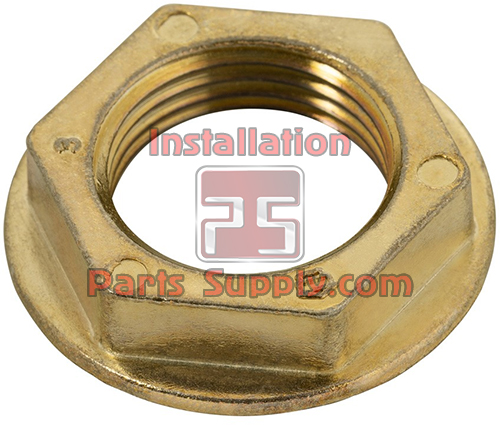 Flanged Lock Nut for Beer Shanks Brass, 1-3/16