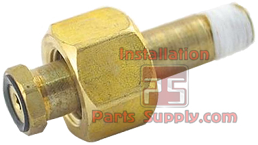 Replacement CO2 Nut/Nipple Assembly w/ Flat Tank Seal