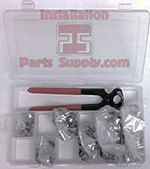 #50K Oetiker Kit Includes: Oetiker Box, Full Face Front Jaw Pliers, & 50 ea. of 6 sizes