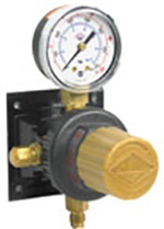 Secondary Soda CO2 Regulator, 1P/1P,  1/4 Flare I/O w/Ck Outlet, 100# Gauge, Wall Mount, T5261SN
