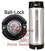Ball-Lock Corny Keg (Pepsi), 2 Handle, 5 Gallon, Cleaned, Processed Class 1