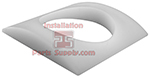 Curved Plastic Flange White, for Column Shank for 3