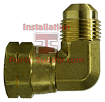 1/4 x 1/4 lare x Female Flare Swivel 90° Brass ES4-44