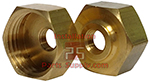 3/4x1/8 Brass Garden Hose Cap With FPT Tap