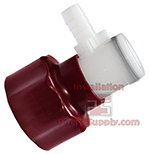 Maroon Bag-In-Box Connector, 3/8