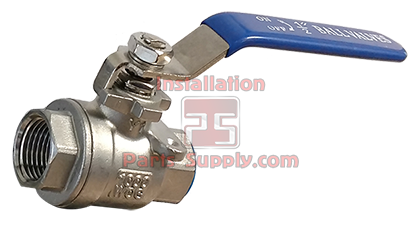 2 Piece Stainless Steel Ball Valve - Installation Parts Supply