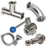Sanitary Fittings — Tri Clover — Butt Weld — Ball Valves — Accessories