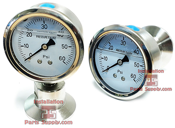 Pressure Gauges — Clamp End Sanitary - Installation Parts Supply