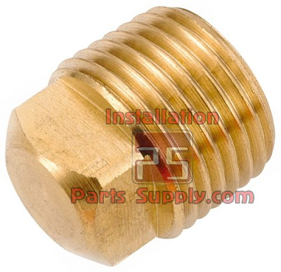 "1/8"" MPT Pipe Plug, Square Head Solid Brass 109AS-A"