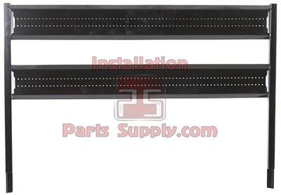 3 Wide Top Mount Louvered Pump Panel for Incline Racks Taprite x 4 pcs.