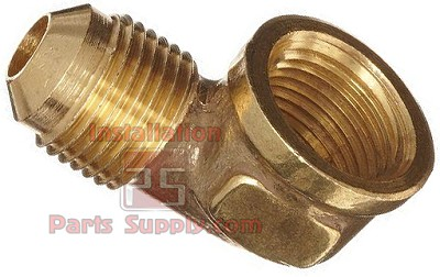 "3/8""x1/4"" Flare x FPT 90° Elbow Adapter Forged Brass E3F-6B"