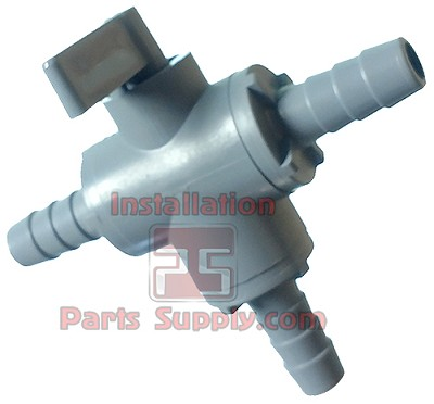 "3/8""(x3) 3-way Barb Ball Valve Plastic-Gray Handle Great for Bleeder Valves, smc#6903190"