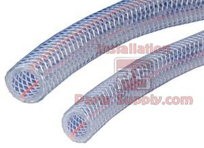 "1/4""x.438x100' Clear Braided PVC"