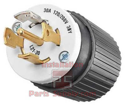 30A 4pole 5wire 30Y 120/208V T-Industrial Lock Plug