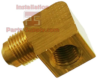 "3/8""x1/4"" Flare x FPT 90° Elbow Adapter Bar Stock Brass E3-6B"