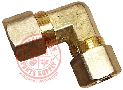 1/2 x 1/2 Brass Compression Elbow 90° Lead Free 65LF