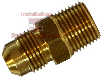 "5/16""x1/4"" Flare x MPT Connector Brass"