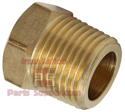 "3/8"" Pipe Plug, Hex Head, Cored Brass 121A-C"