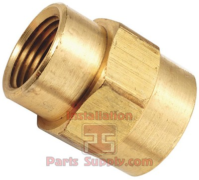 "1/2""x1/4"" FPT Pipe Reducing Coupler Brass"