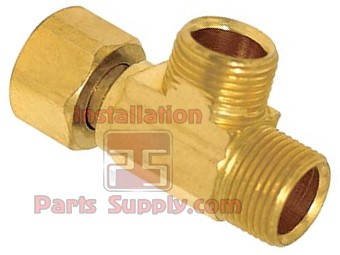 "1/2"" Female Pipe Thread x 1/2"" Male Pipe Thread x 3/8"" Compression Outlet Brass Max Adapter"