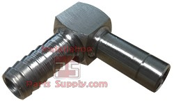 "1/4""x3/8"" Barb x Compression Tube Welded 90° Stainless"