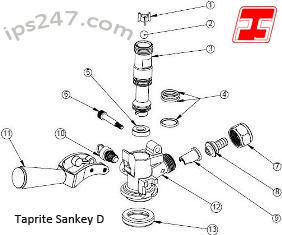 sankey d s coupler bottom seal taprite 24253. Black Bedroom Furniture Sets. Home Design Ideas