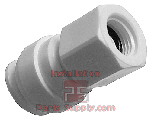 """bag of 100 ¼/"""" Drip Irrigation Poly Tubing Mounting Clip with Nail"""