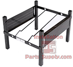 1-Wide Incline Rack w/ Hole Side Panels (12