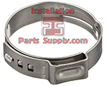9.8-12.3 / .386-.484 1-Ear Stepless Oetiker Clamp Group 167 (16700009)