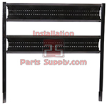 2 Wide Top Mount Louvered Pump Panel for Incline Racks Taprite