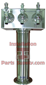 3 Faucet T-Tower Polished Stainless