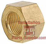 North & South America Co2 Tank Hex Nut, CGA320, .830-14 x 1-1/8