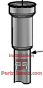 Down Tube for Keg Spear 50-1130-00, D-Style 1/2 Barrel