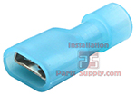 16-14 AWG Fully Insulated Female .250 Spade Connectors - Blue