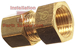 1/4 x 1/4  Female Flare x Compression -Lead Free Brass