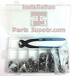 #98S Oetiker Kit Includes: Oetiker Box, Oetiker 14100396 Front Jaw Pliers, & 50 ea. of 6 sizes