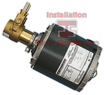Chiller Pump & Motor Assembly with Fittings & Clamps 100GPH