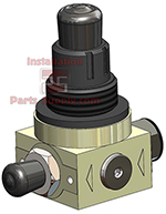 55psi Inlet Regulator TM Gas Blenders TM1/TM2