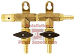 2 way Air Distribution Manifold Taprite 3/8
