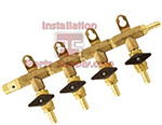 4way Brass Air Dist.3/8bx5/16bValve w/Safety
