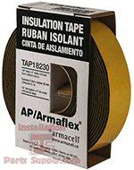 Rubber Insulation Tape, Self Adhering, 1/8