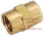 1/4 x 1/4 FPT Brass Coupler Lead Free 103LF-B