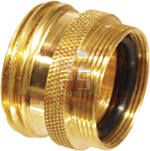 Knurled Brass Sink Faucet Adapter