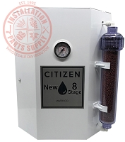 World Citizen Multi-Stage Reverse Osmosis System 50gpd WITH 2.0 White Tank
