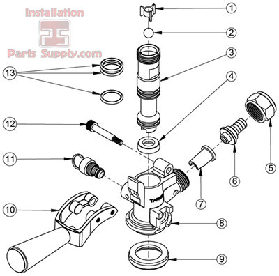 D-Style Keg Coupler Repair Parts - Installation Parts Supply on beer diagram, keg faucet diagram, bar diagram, microwave diagram, keg coupler diagram, ref walk-in cooler diagram, brewing diagram, knob cylinder diagram,