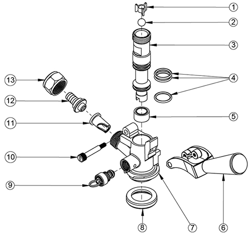 Wiring Diagram  30 Keg Tap Parts Diagram