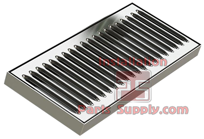 Surface Mount Drip Trays 304SS No Drain - Installation Parts Supply