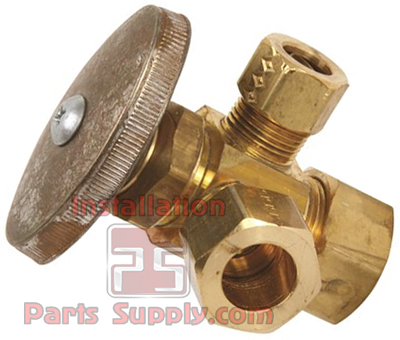 Compression Inlet Dual Compression Outlet Stop Valve