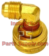 Female Garden Hose Swivel x Flare Elbow