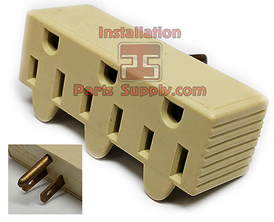 Three Outlet Adapter 3 in 1